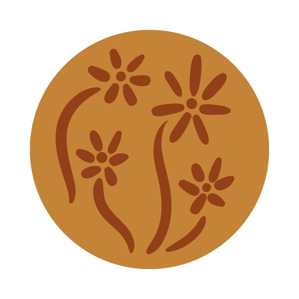 stile di tiraggio della mano di boho del giardino dei fiori vettore