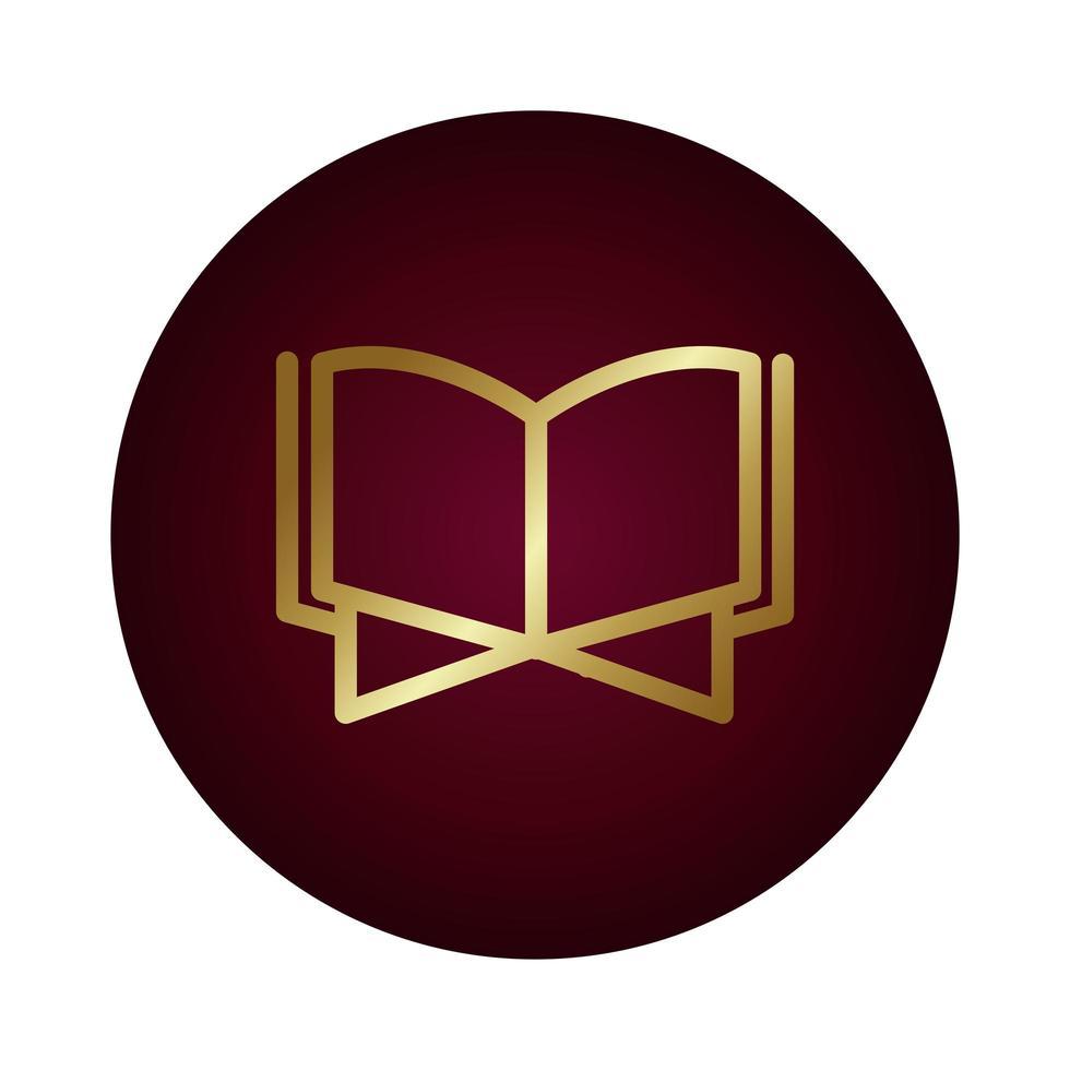 Corano libro islam blocco stile gradiente illustrazione vettoriale design