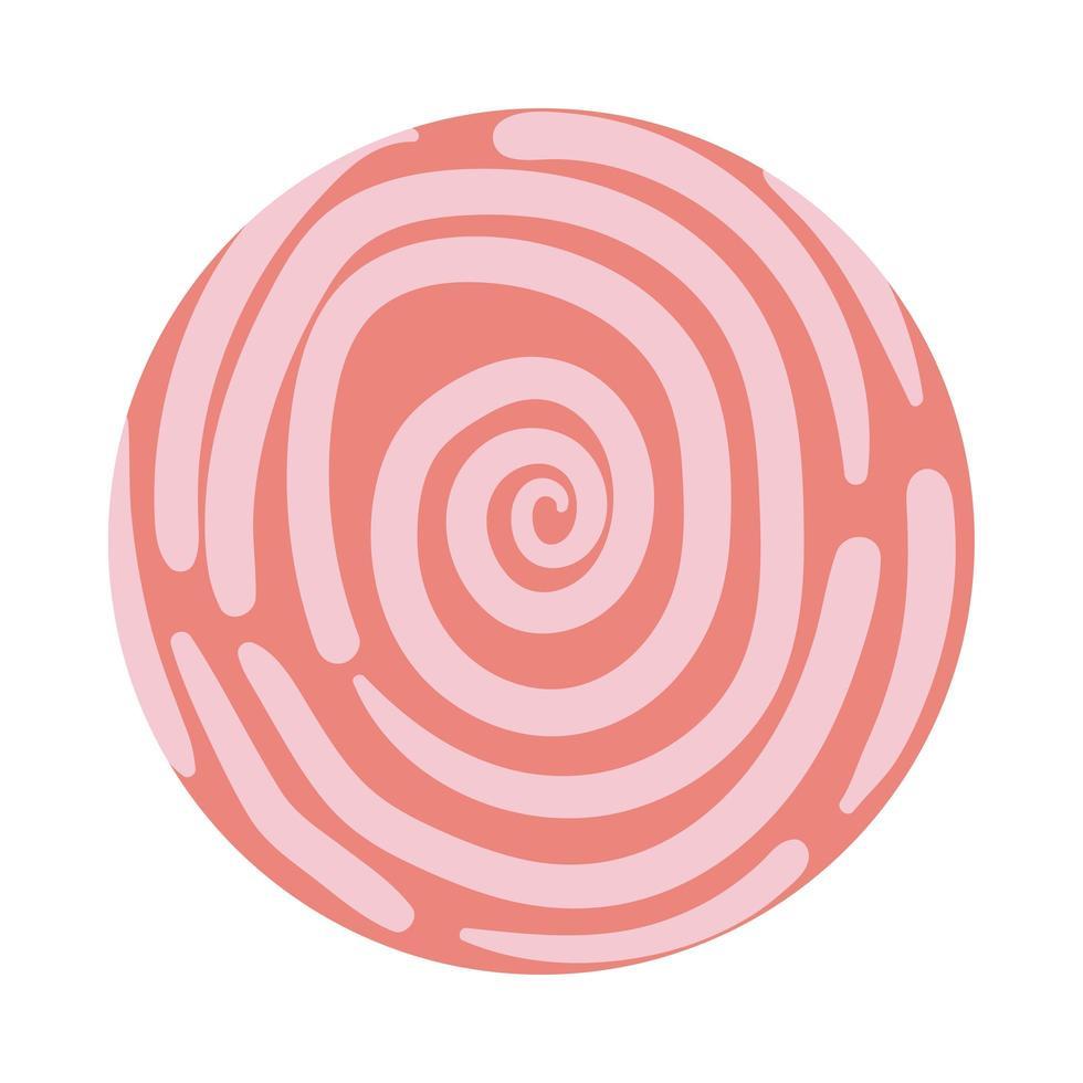 stile blocco modello a spirale organico vettore