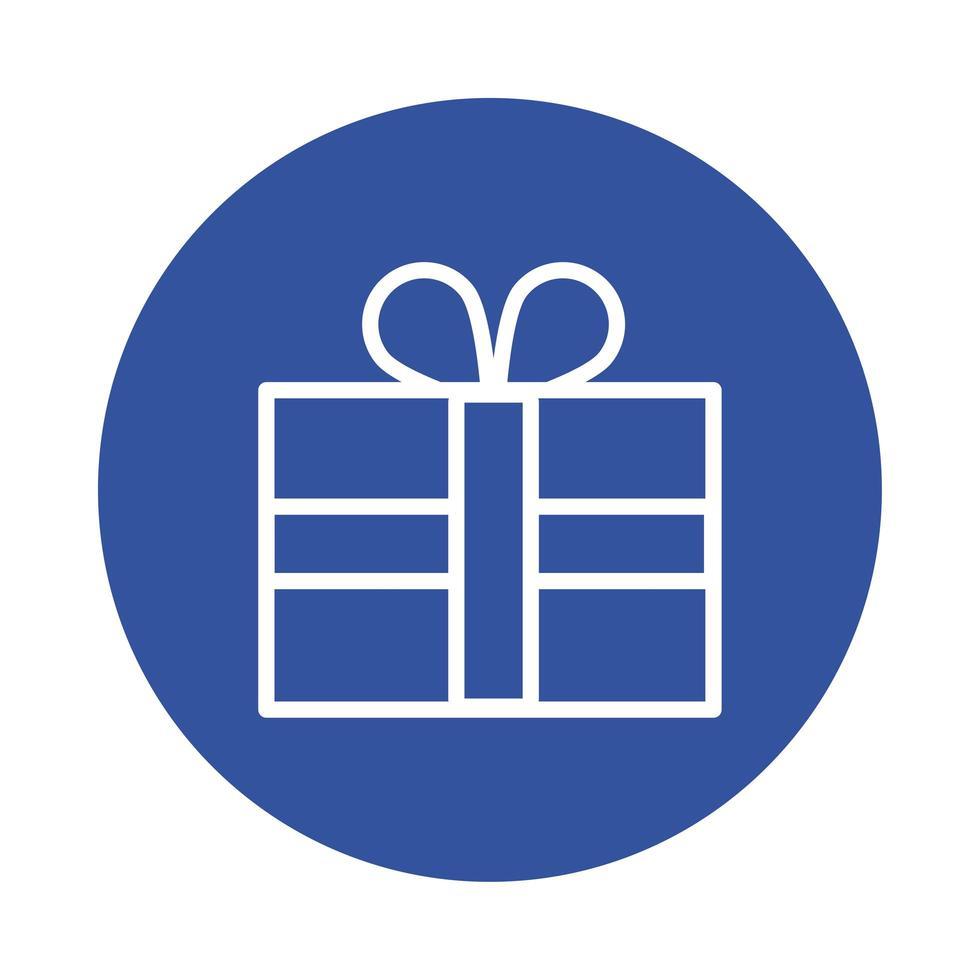 confezione regalo presente in stile blocco vettore