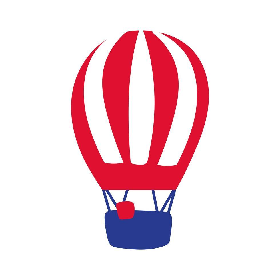 icona di stile di tiraggio della mano di viaggio ad aria calda in mongolfiera vettore