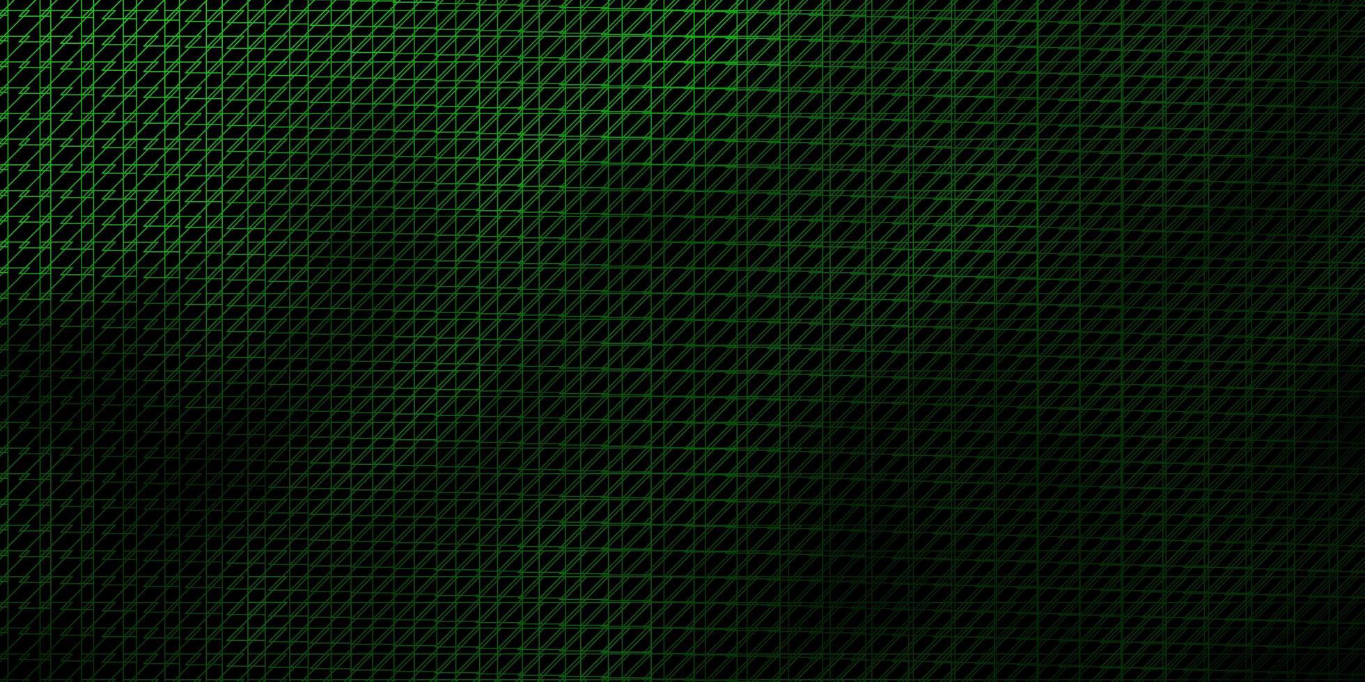 sfondo vettoriale verde scuro con linee.