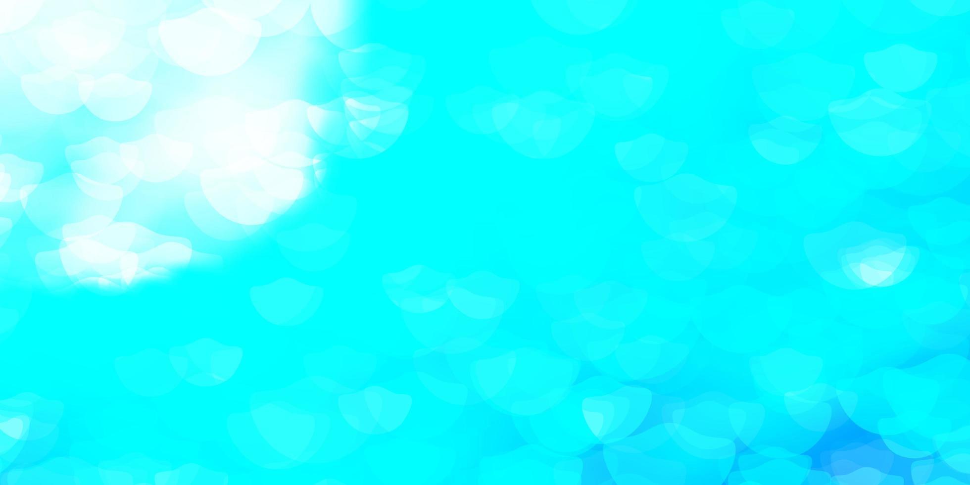 modello vettoriale azzurro con sfere.