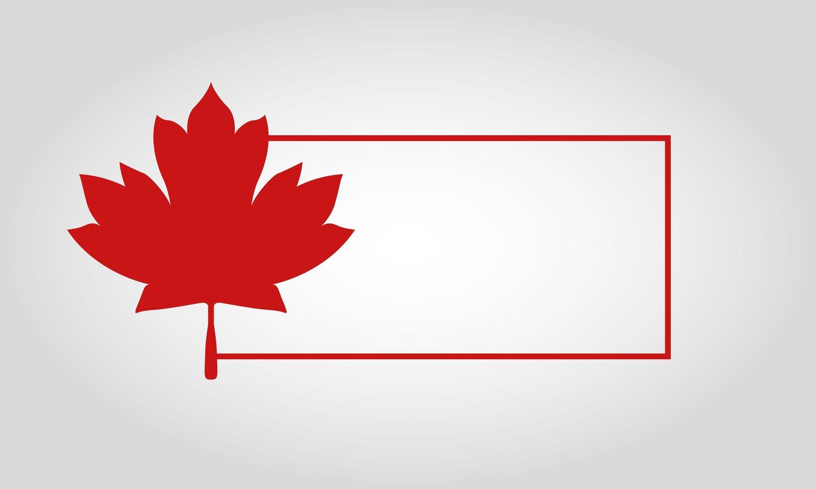 cornice con foglia d'acero canadese per il disegno vettoriale felice giorno del canada