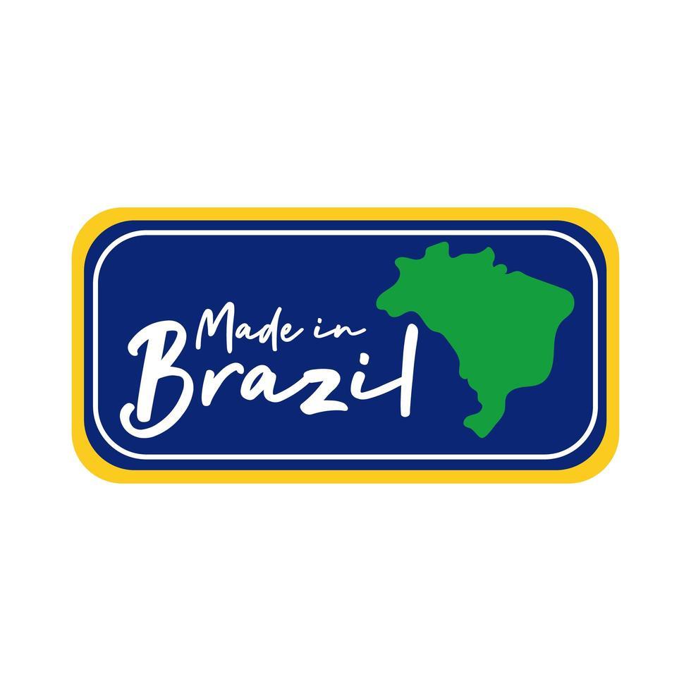 made in brasile banner con mappa vettore
