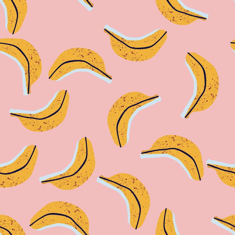 modello senza saldatura con banane vettore