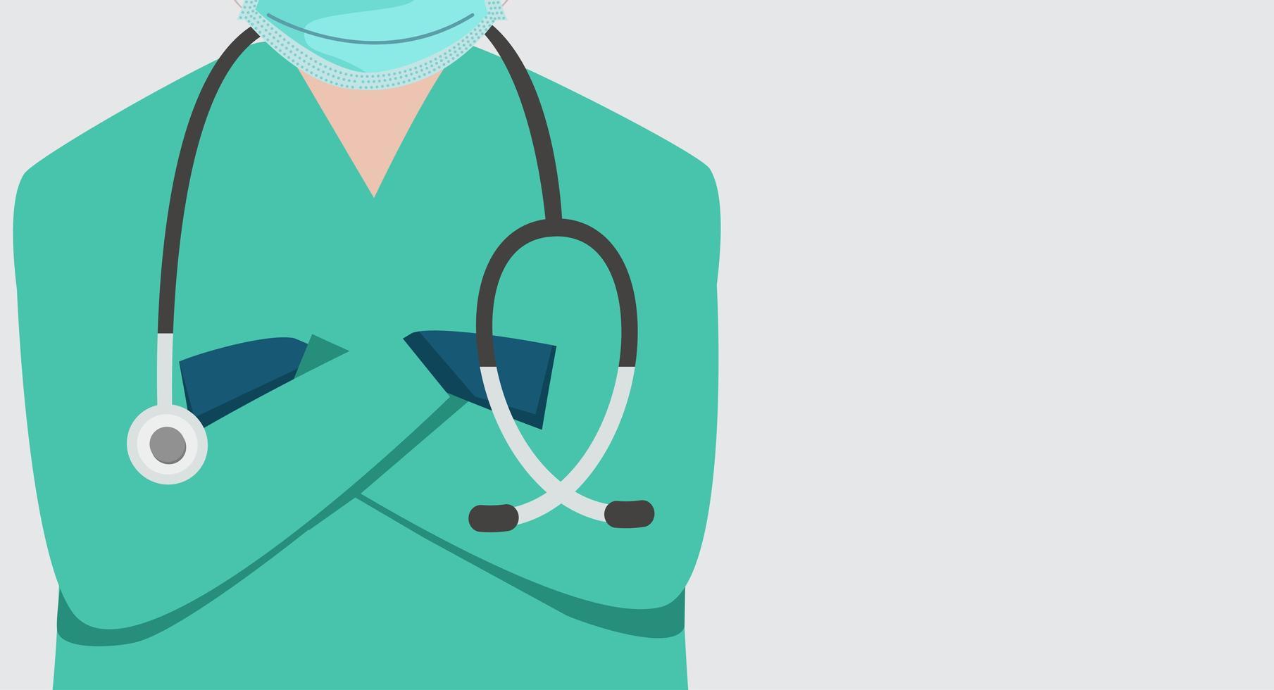primo piano medico banner sfondo vettore