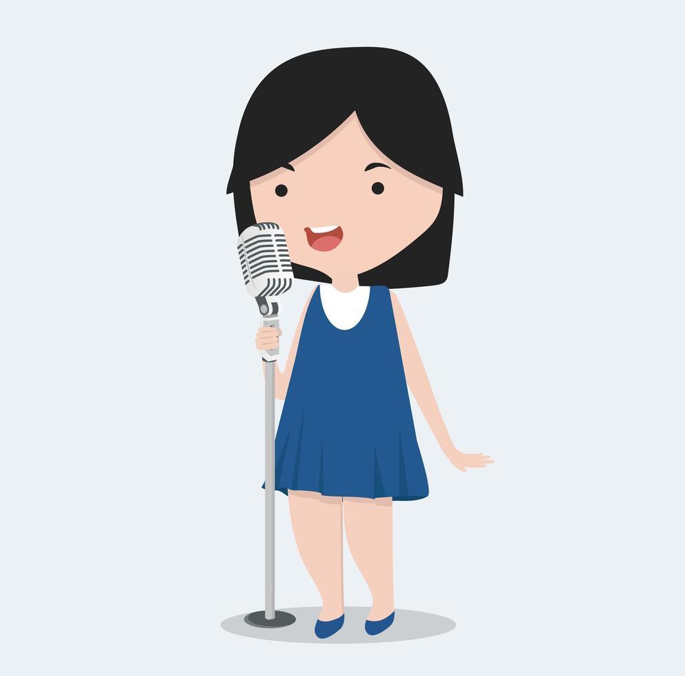 bambina che canta vettore