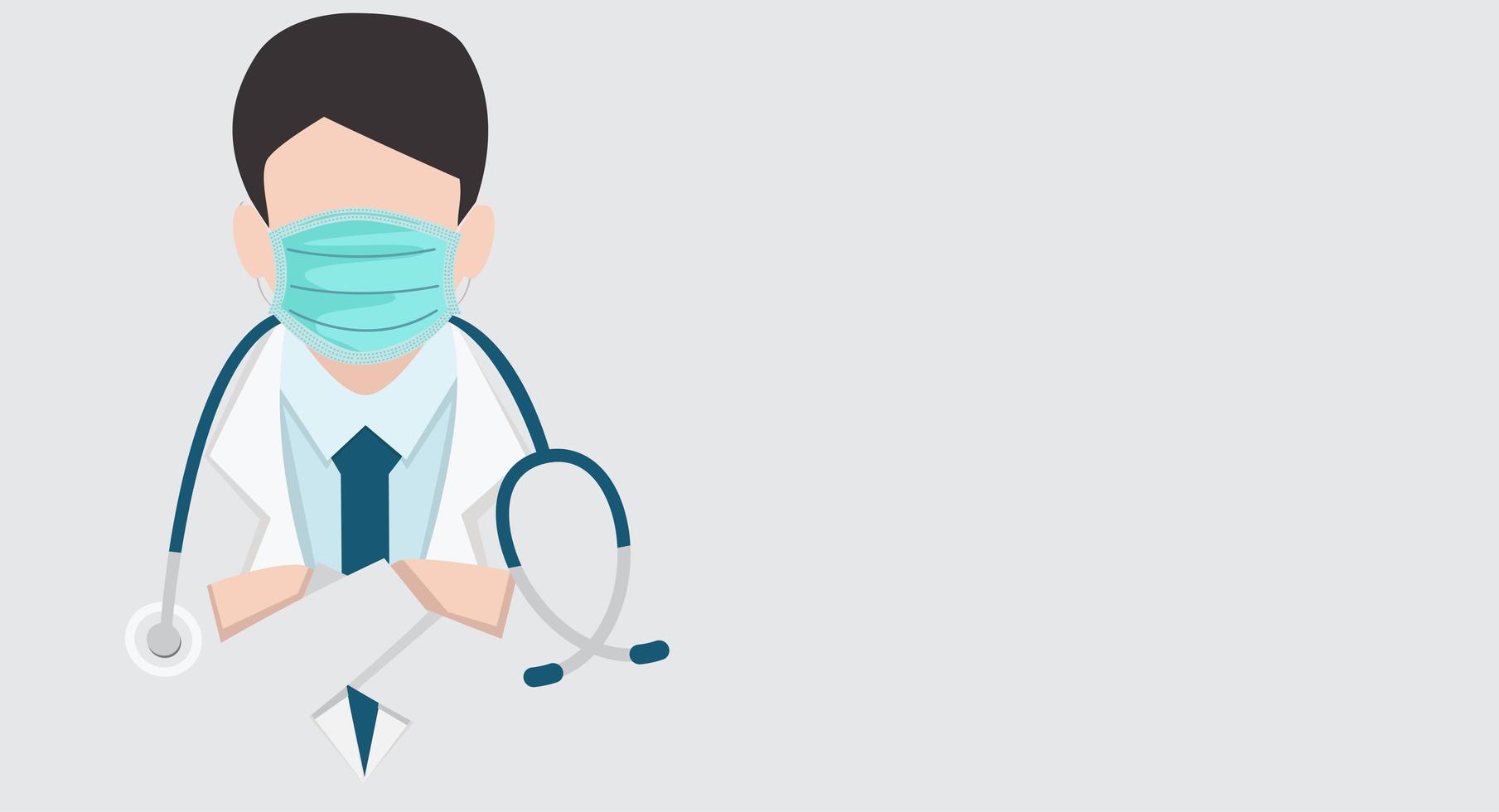 primo piano medico con vettore medico stetoscopio