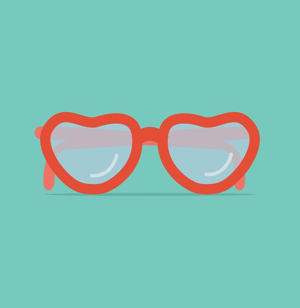 illustrazione di vettore di occhiali da sole rossi alla moda