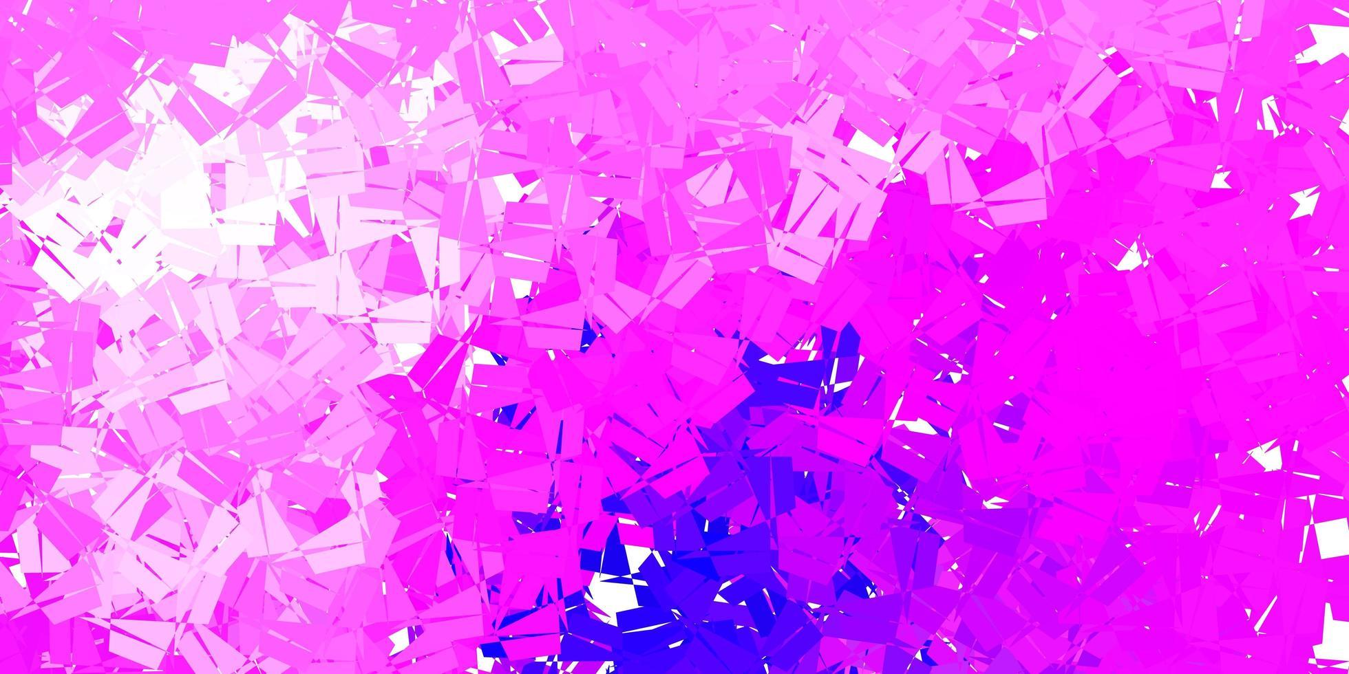 modello di mosaico triangolo vettoriale viola chiaro, rosa.