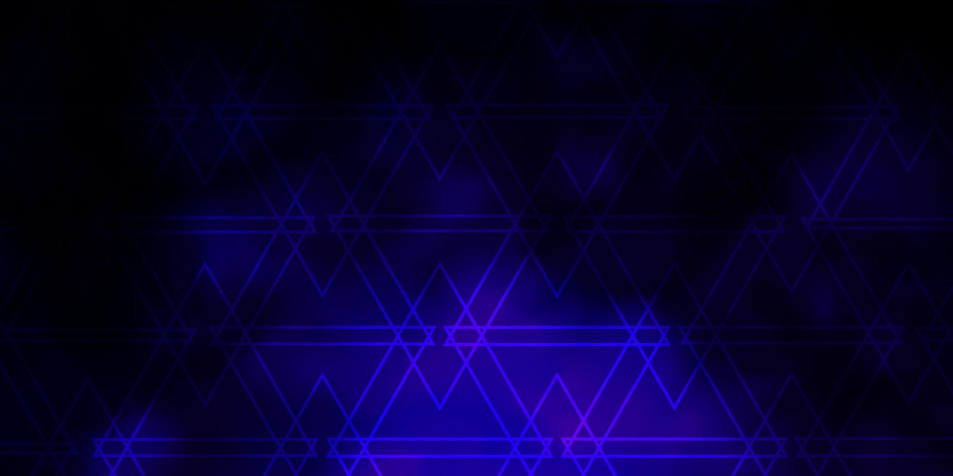 sfondo vettoriale viola scuro, rosa con triangoli.