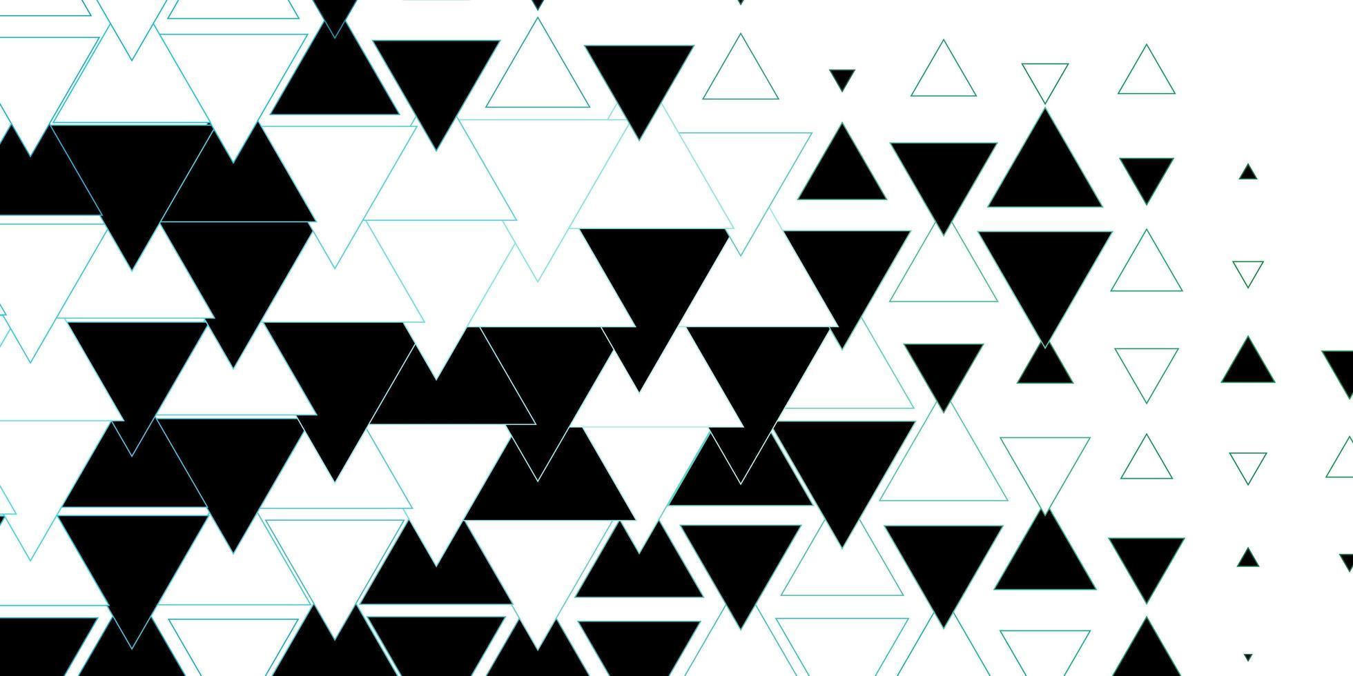 layout vettoriale blu scuro, verde con linee, triangoli