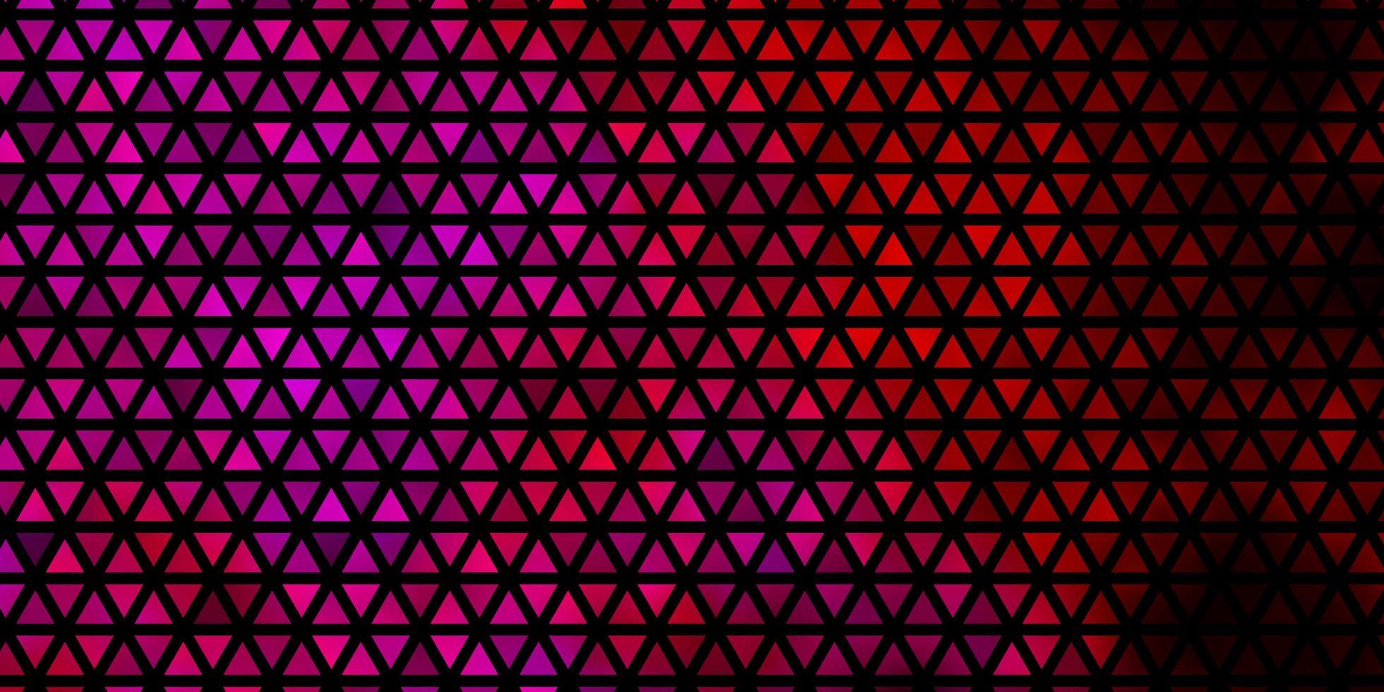 sfondo vettoriale viola scuro, rosa con linee, triangoli.