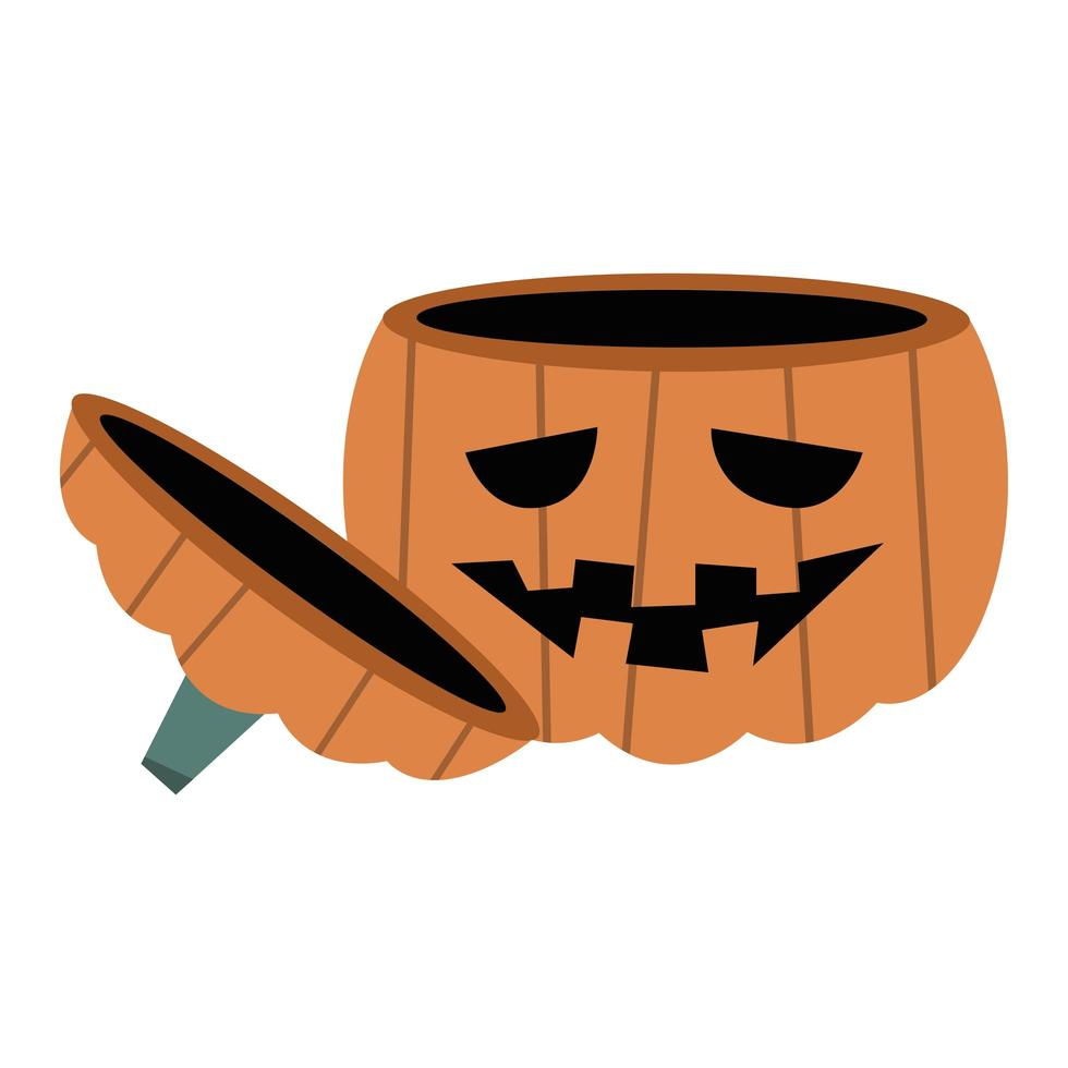 disegno vettoriale di zucca di halloween ciotola