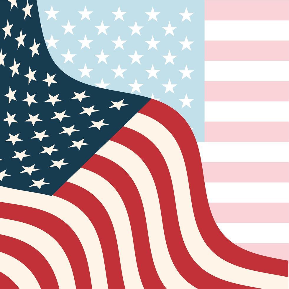 bandiera degli Stati Uniti disegno vettoriale