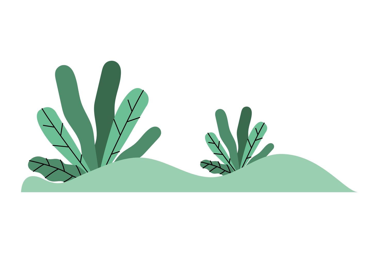 isolato foglie verdi icona disegno vettoriale