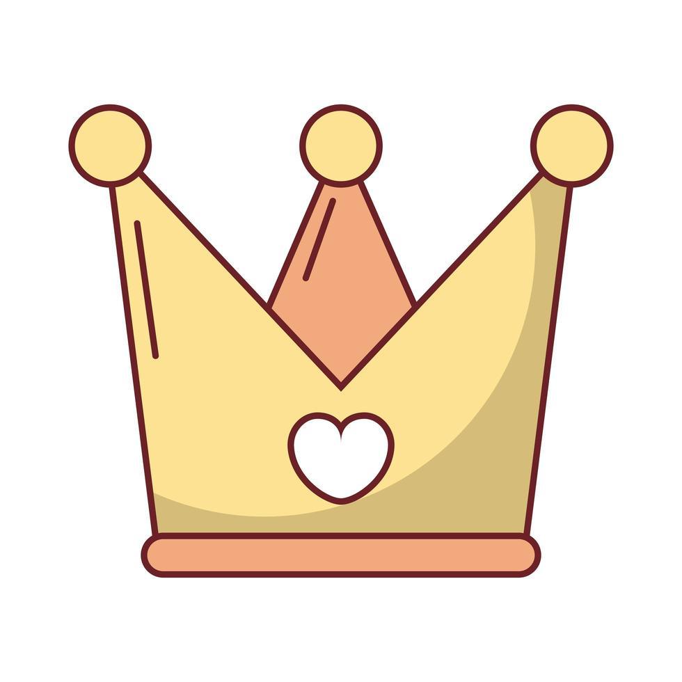 felice giorno di San Valentino corona con il cuore vettore