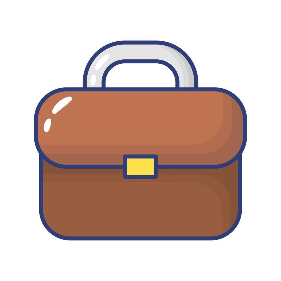 icona di stile piatto valigetta portafoglio vettore