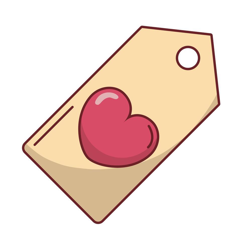 felice giorno di san valentino tag cuore appeso vettore