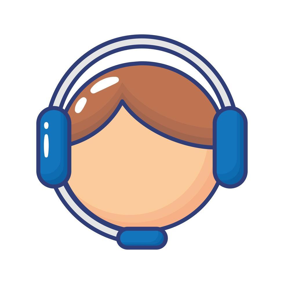 icona di stile piatto di agente di servizio di supporto vettore