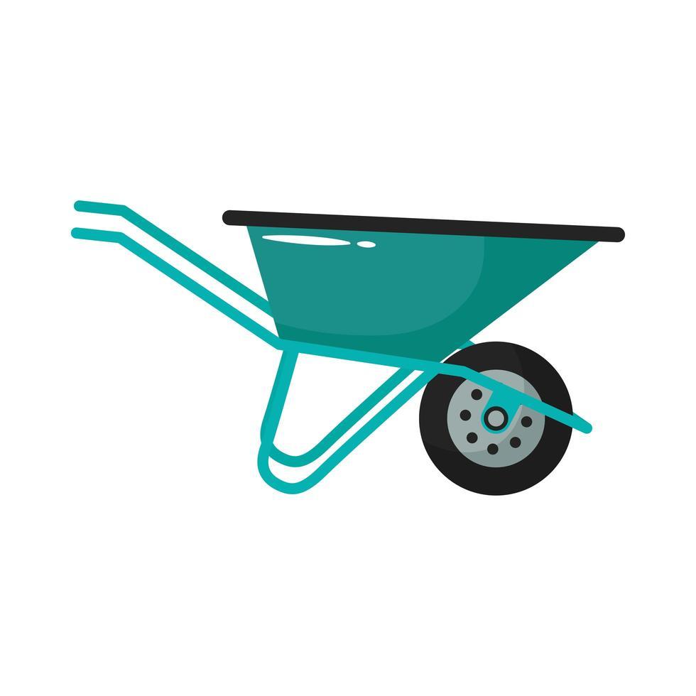stile piatto strumento di giardinaggio carriola vettore