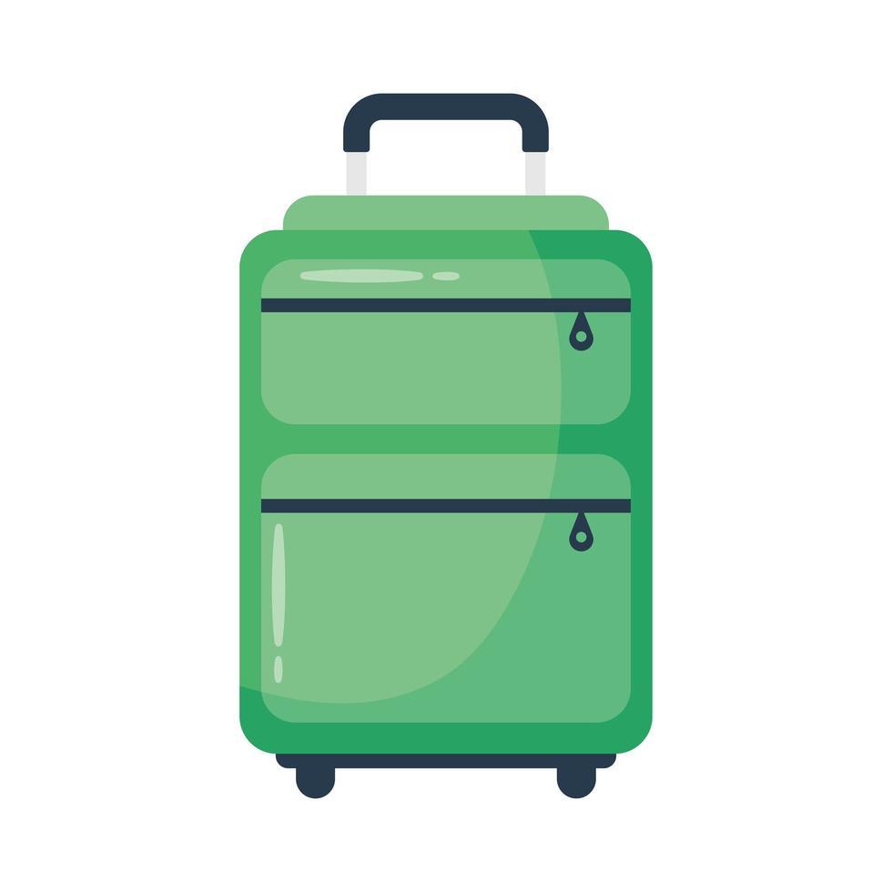 icona di stile piatto valigia da viaggio vettore