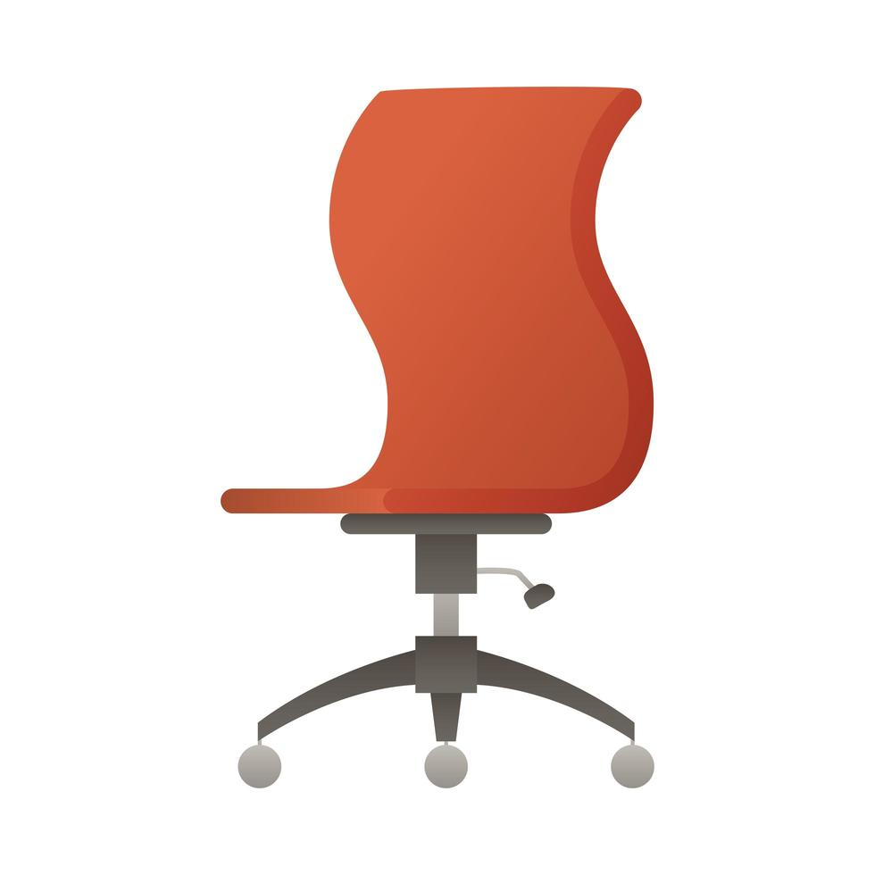 Elegante rosso sedia da ufficio icona illustrazione vettoriale design