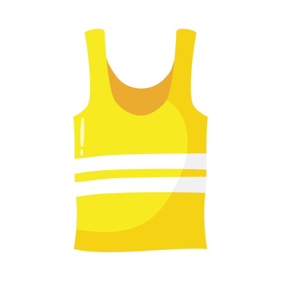 icona di stile piatto tuta da spiaggia vettore