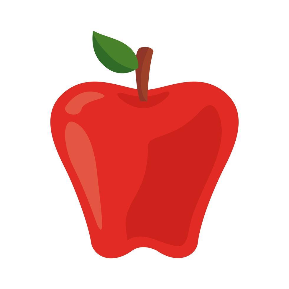 icona di cibo sano di frutta fresca mela vettore