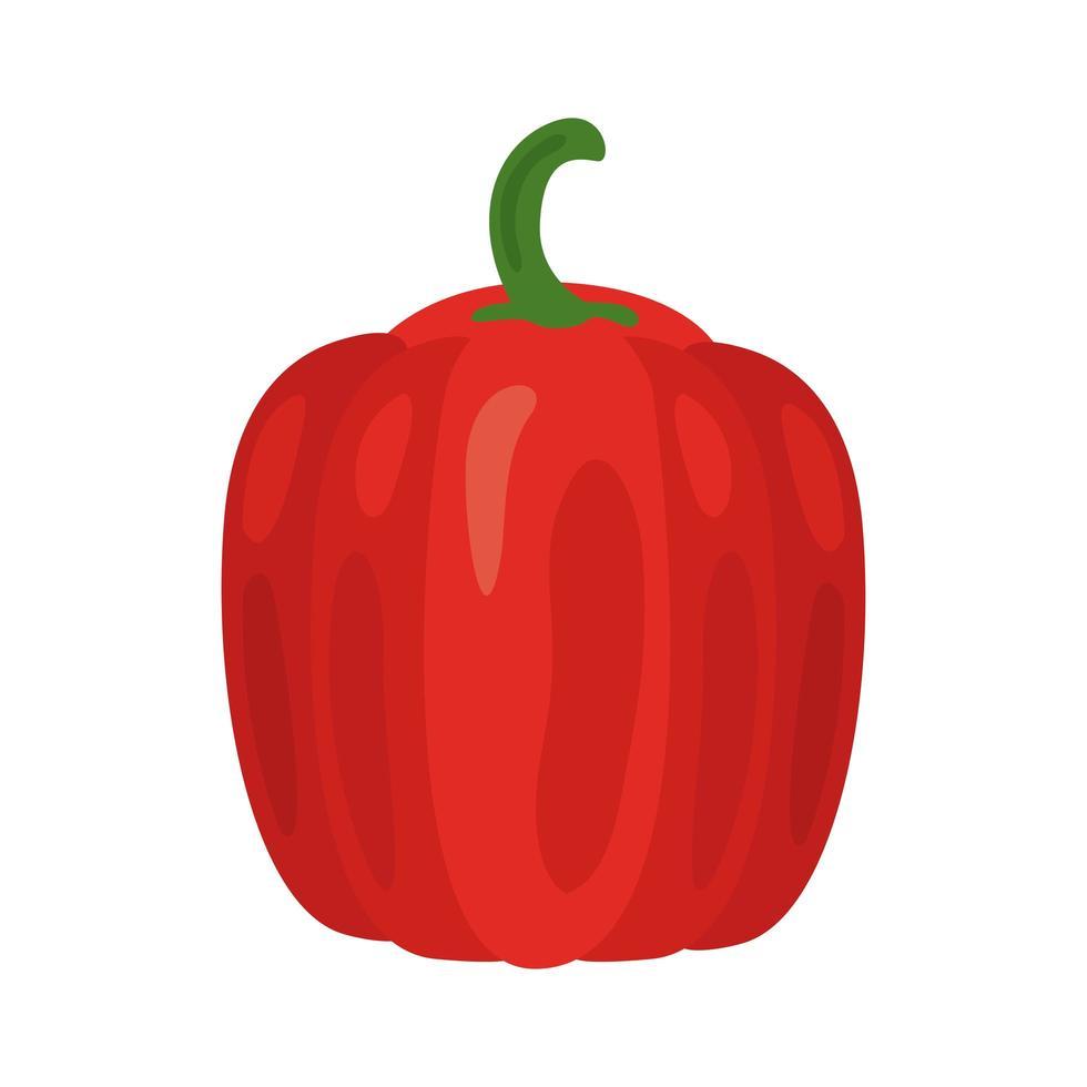 icona di cibo sano di verdure di pepe fresco vettore