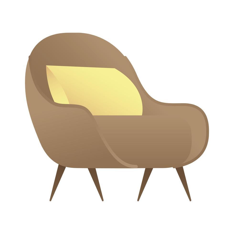 divano con cuscino icona isolato illustrazione vettoriale design