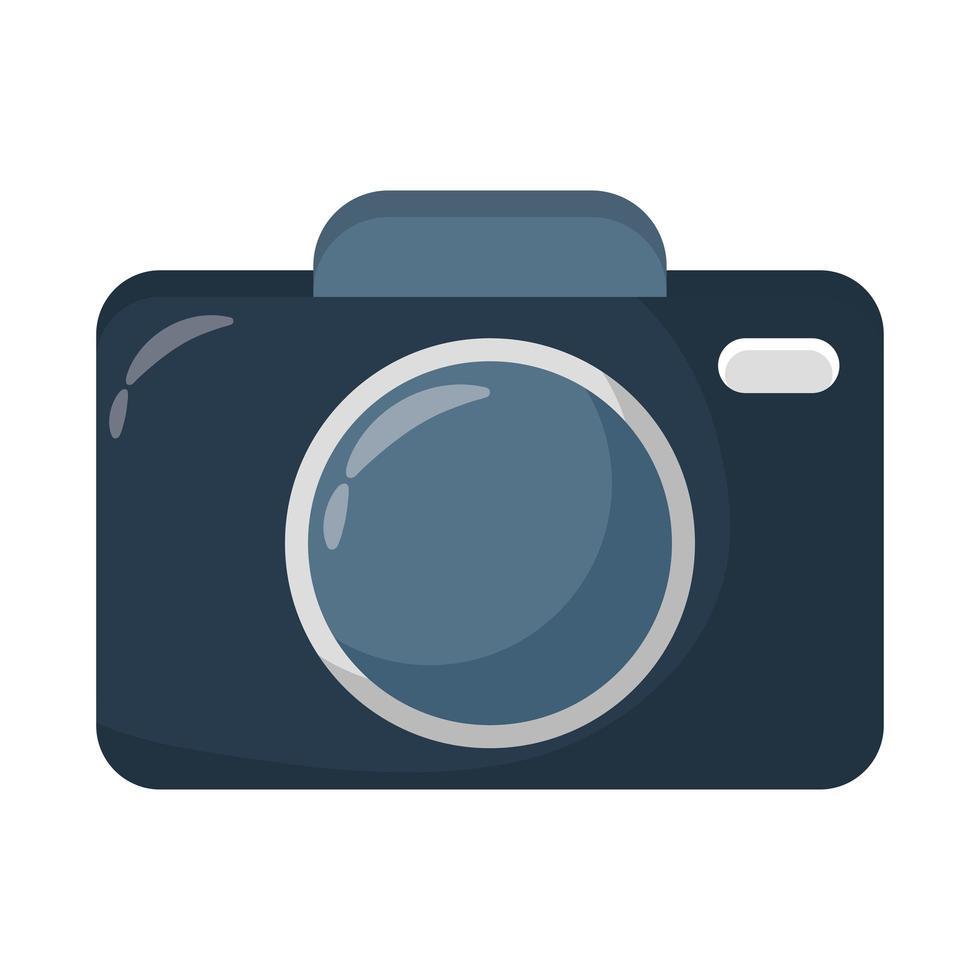 icona di stile piatto del dispositivo fotografico della fotocamera vettore