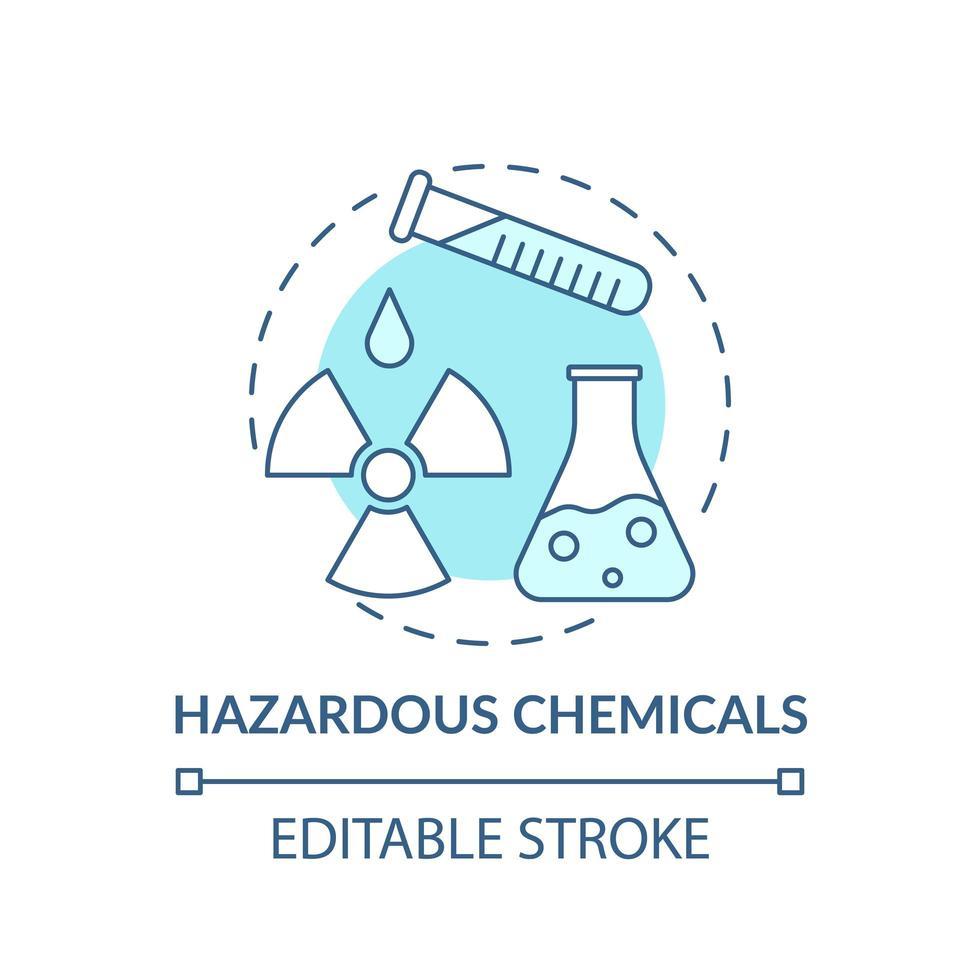 icona di concetto di sostanze chimiche pericolose vettore