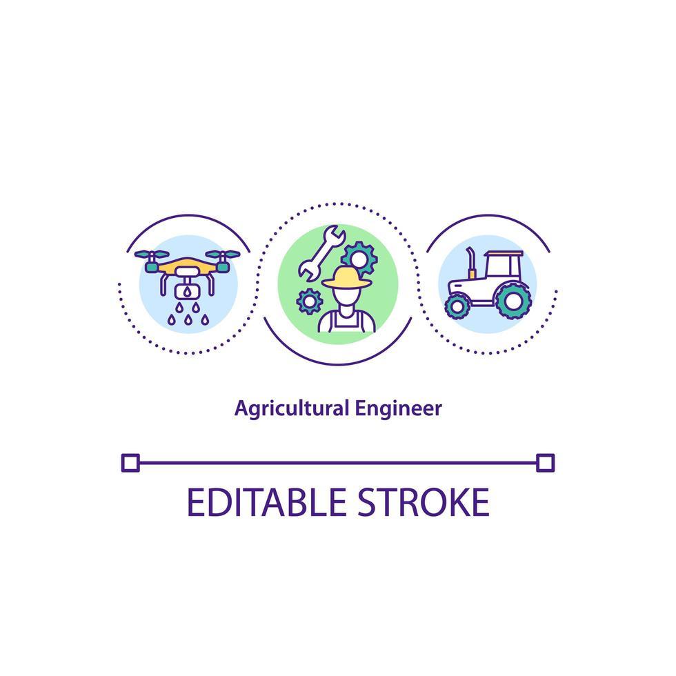 icona di concetto di ingegnere agricolo vettore