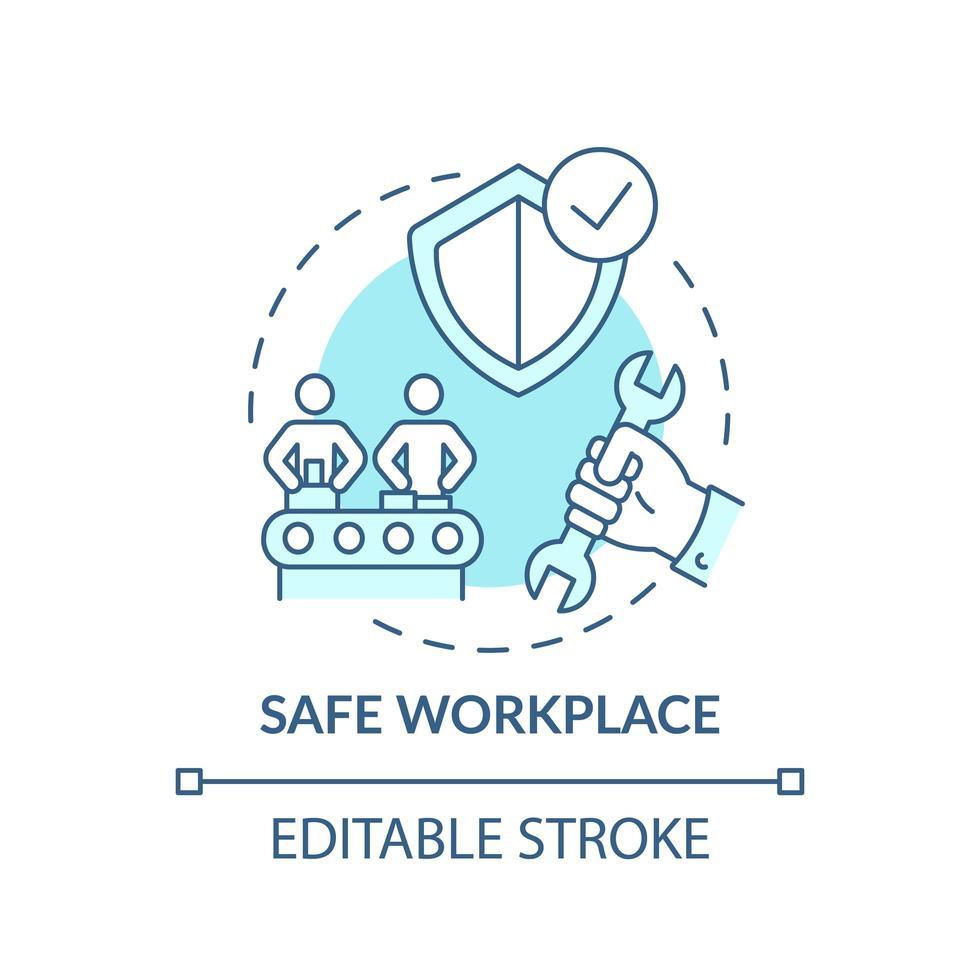 icona del concetto di posto di lavoro sicuro vettore