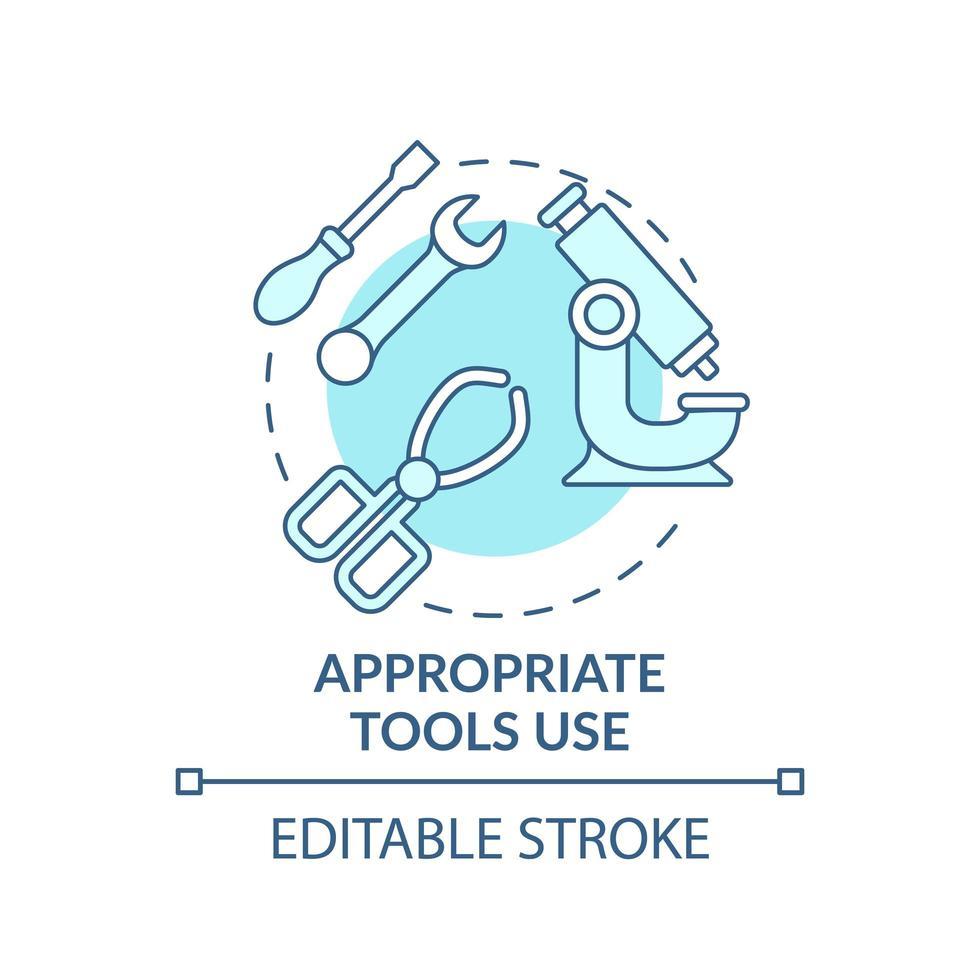 strumenti appropriati utilizzano l'icona del concetto vettore