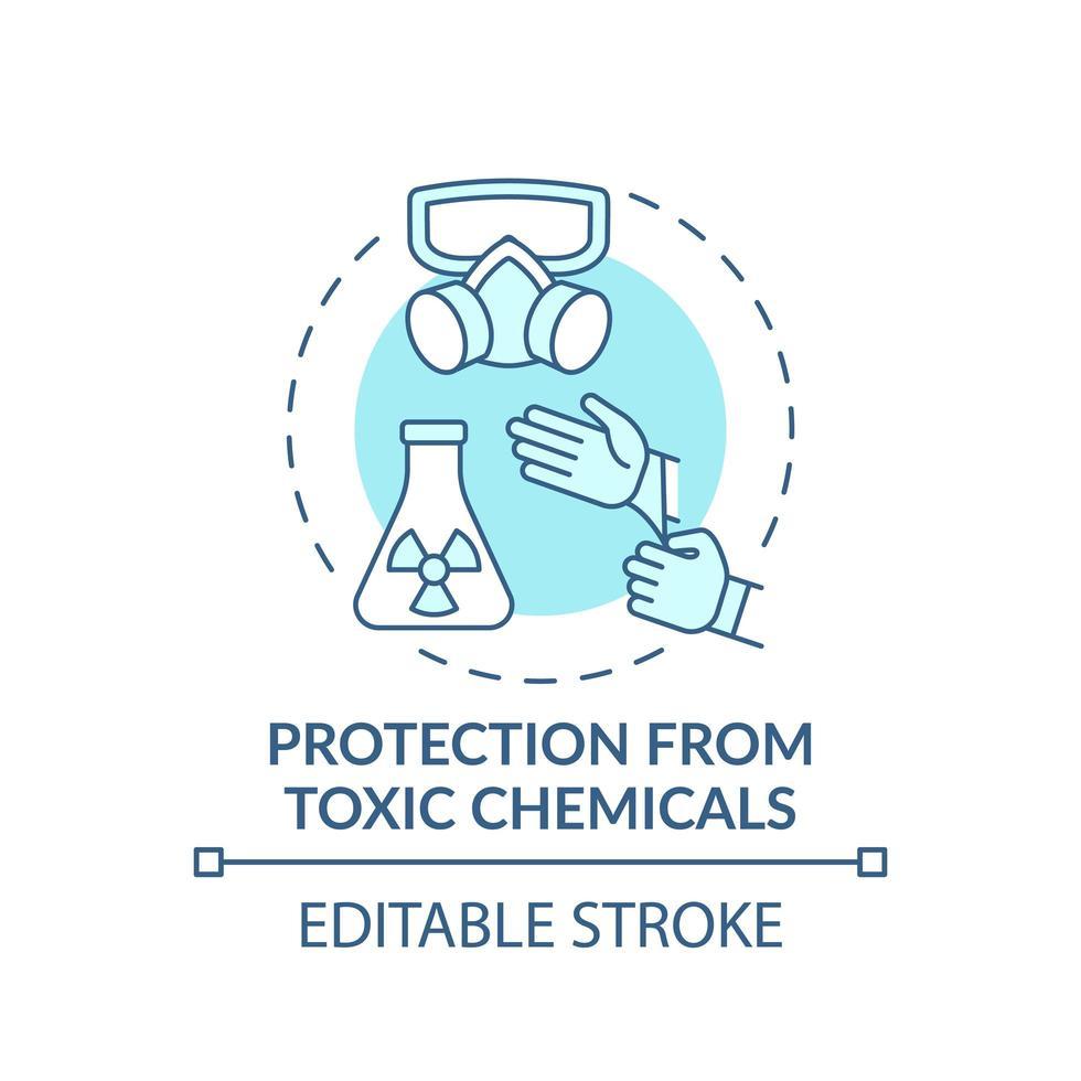 protezione dall'icona di concetto di sostanze chimiche tossiche vettore