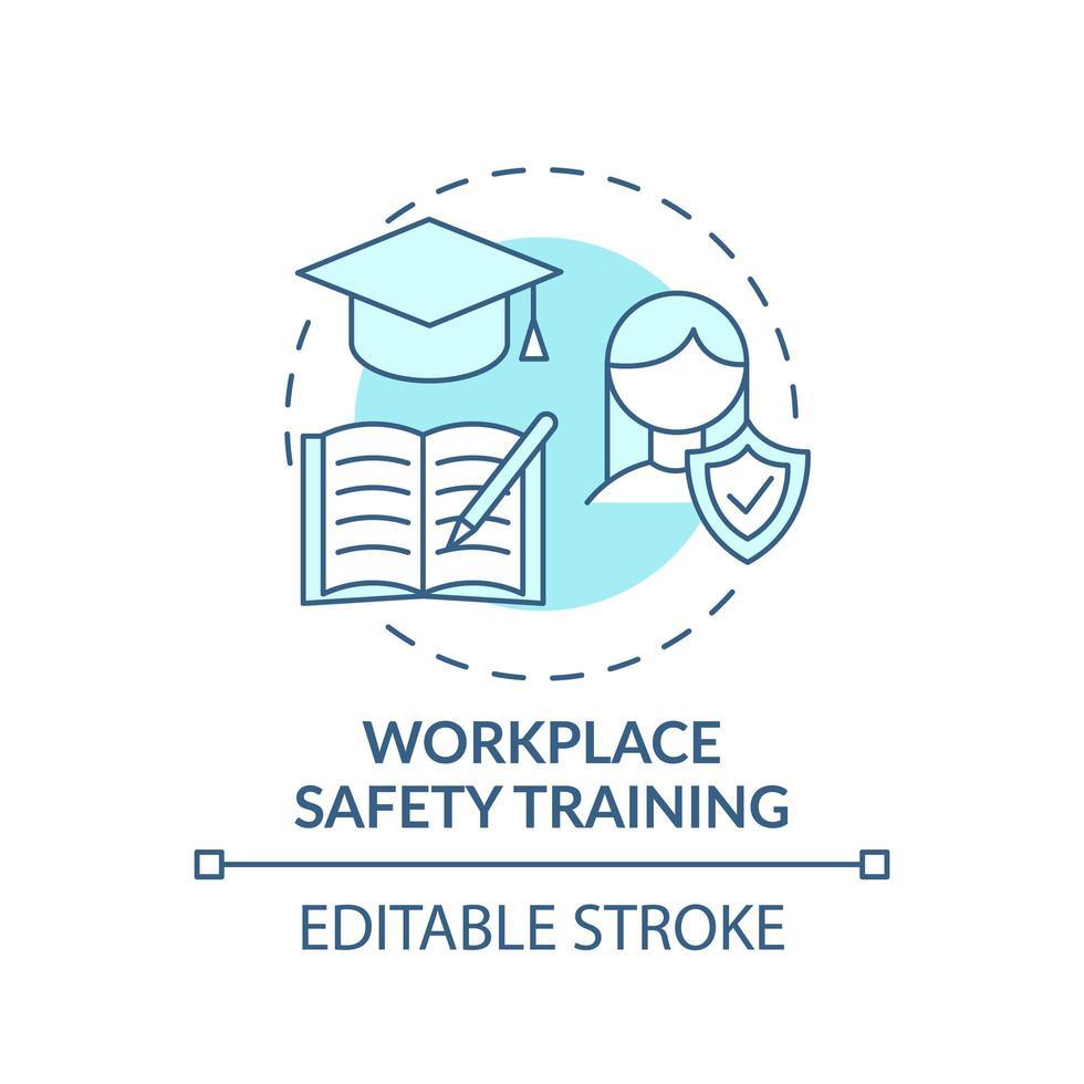 icona del concetto di formazione sulla sicurezza sul lavoro vettore