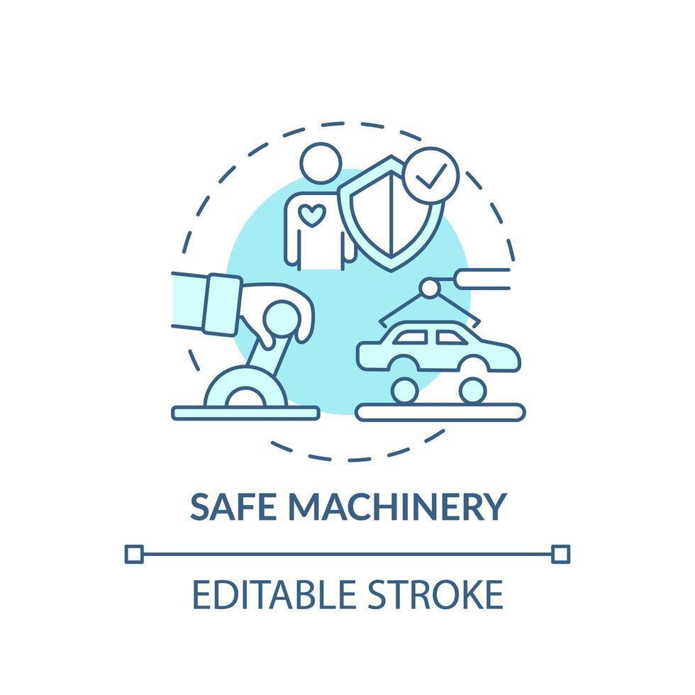 icona del concetto di macchine sicure vettore