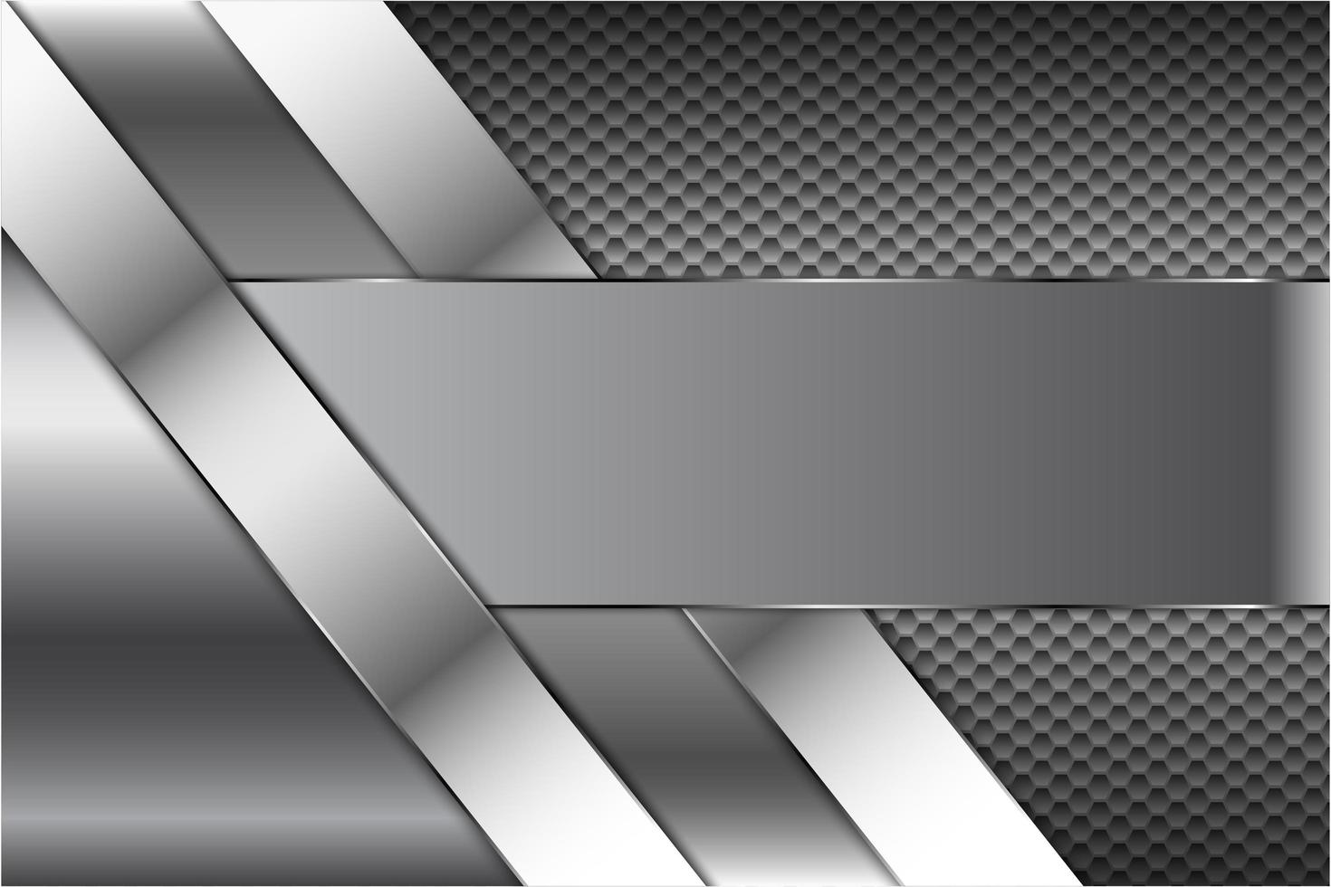 tecnologia in metallo con motivo esagonale vettore