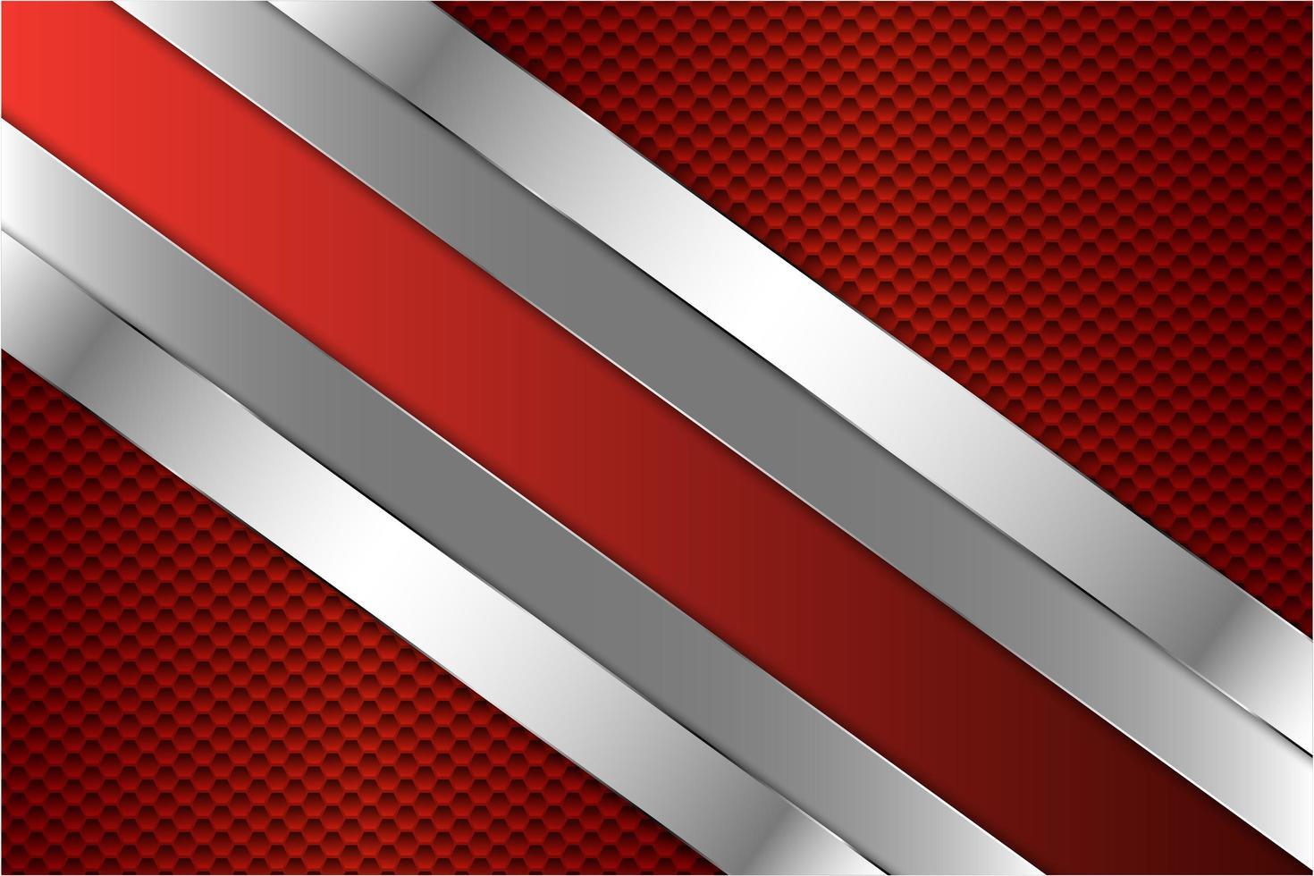 sfondo di metallo rosso con esagono vettore