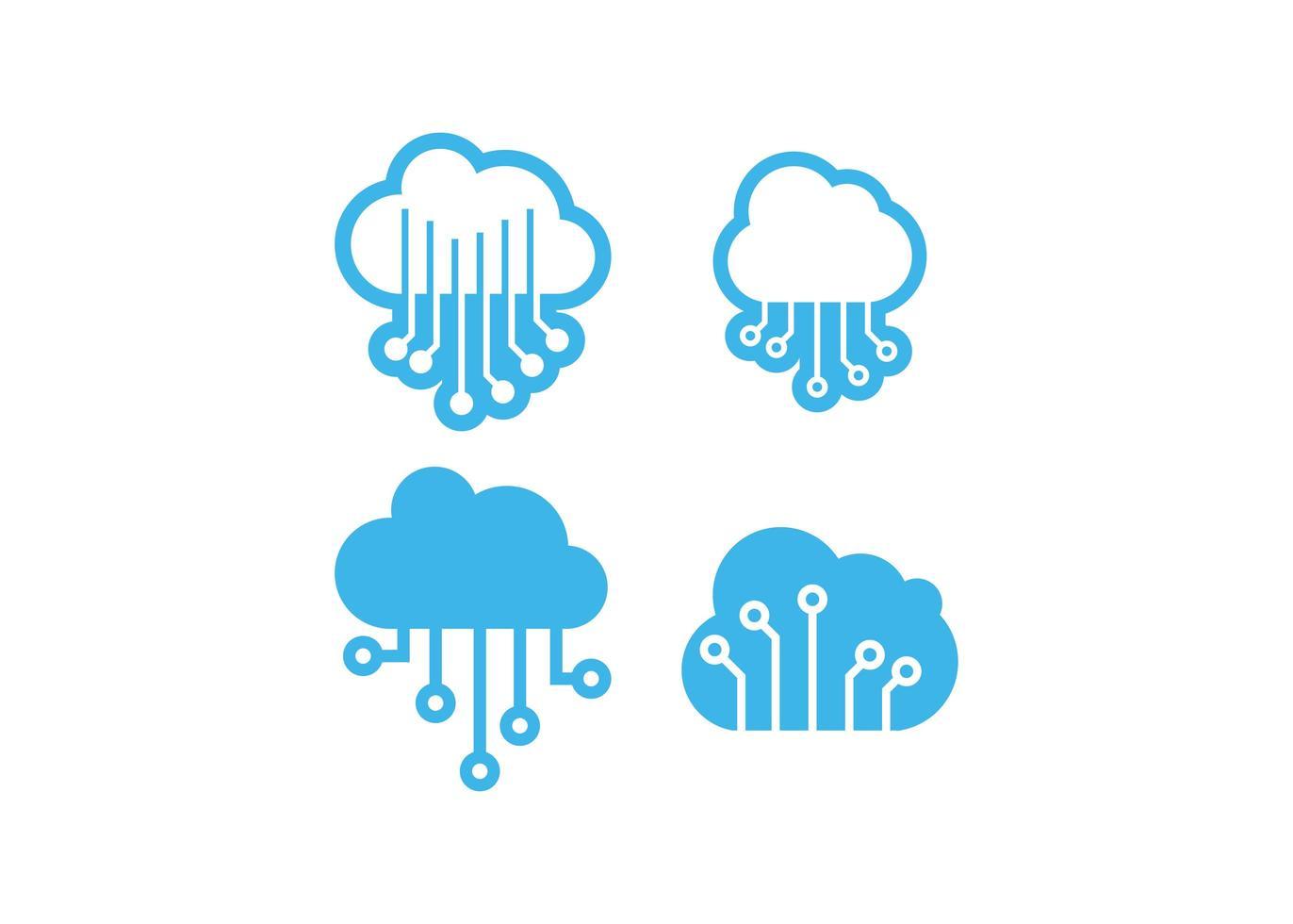Illustrazione isolata di vettore del modello di progettazione dell'icona della nuvola