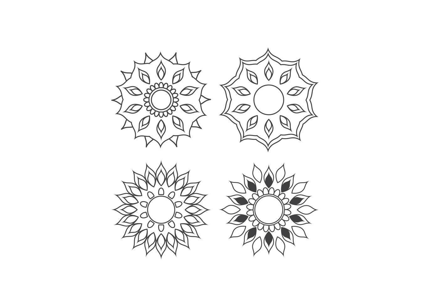 mandala icona modello di disegno vettoriale illustrazione isolato