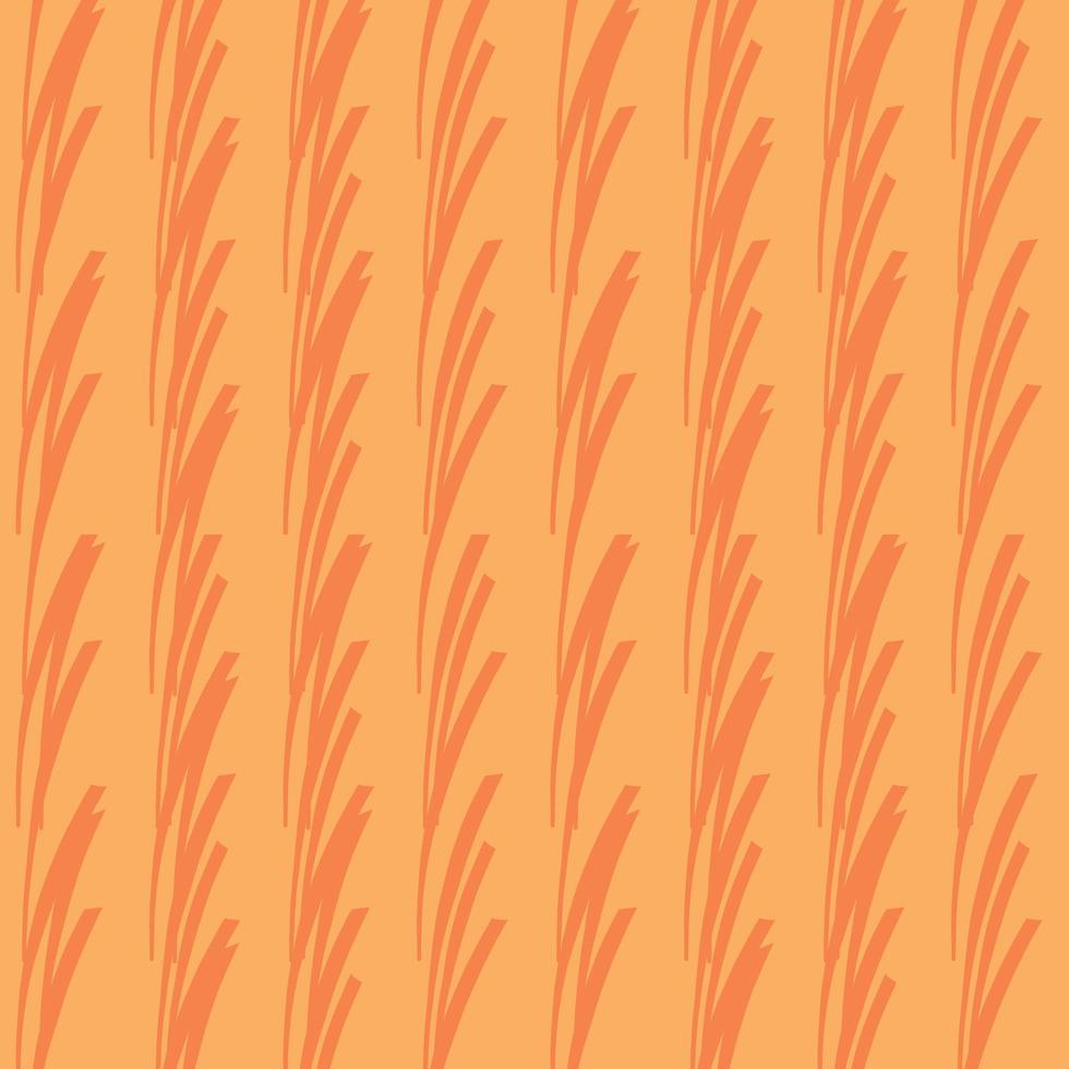 vettore seamless texture di sfondo pattern. disegnati a mano, colori arancioni.