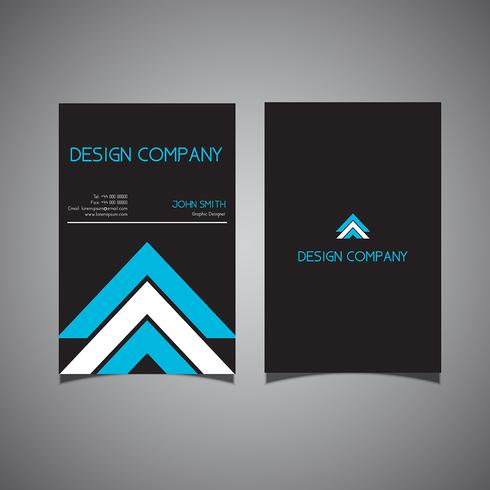 Design moderno biglietto da visita vettore