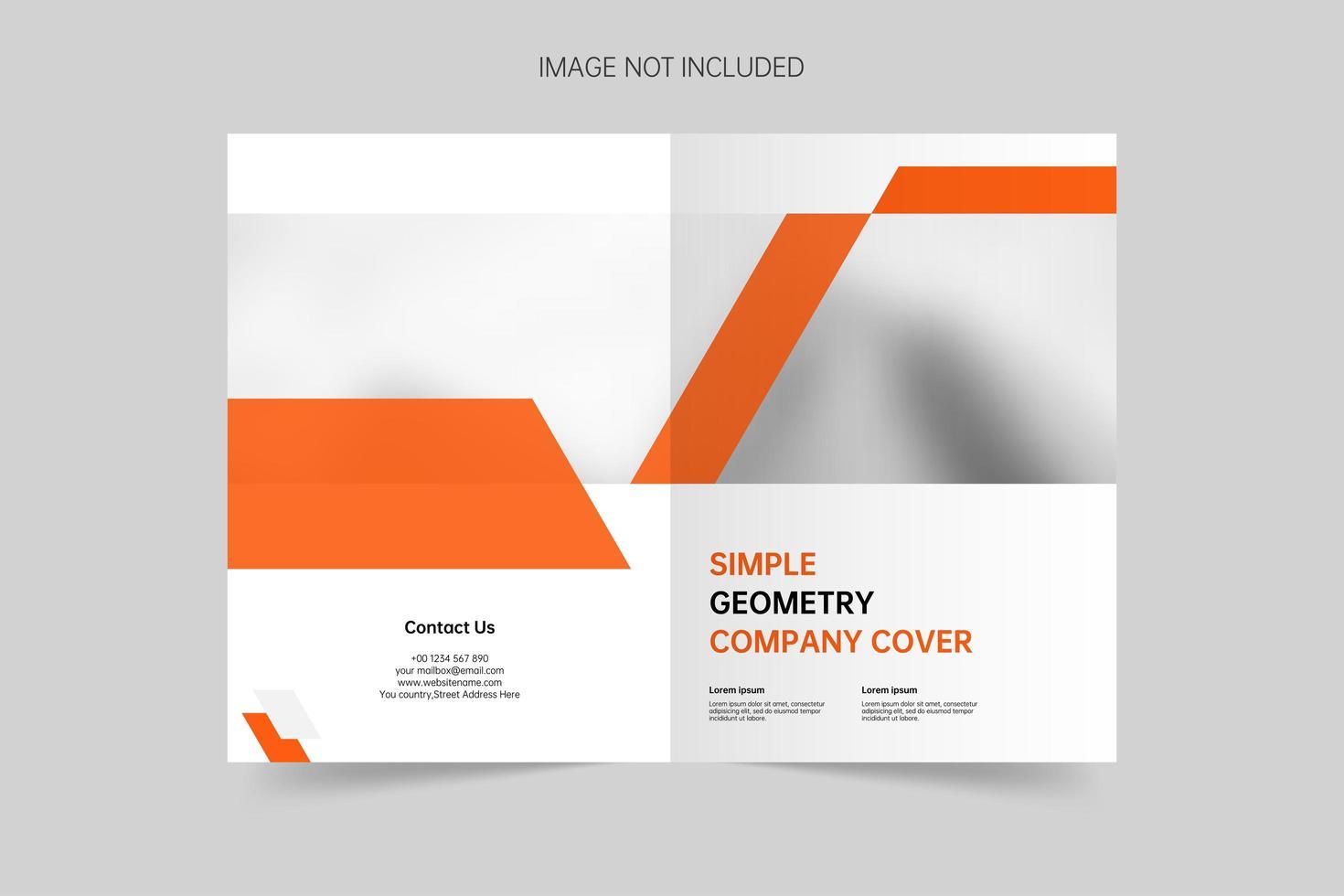 brochure di copertina generale di presentazione dell'azienda vettore