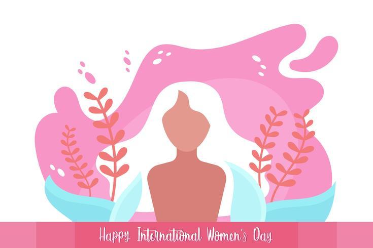 Vettore internazionale della festa della donna