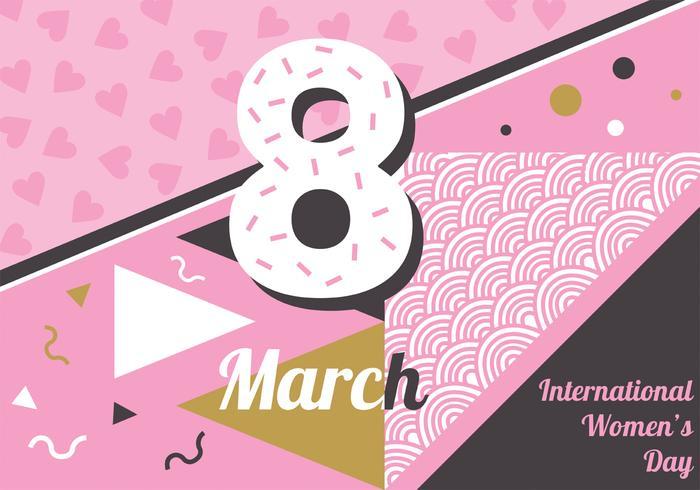 Disegno vettoriale giornata internazionale della donna