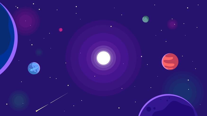 Vettore libero del fondo galattico ultra violetto
